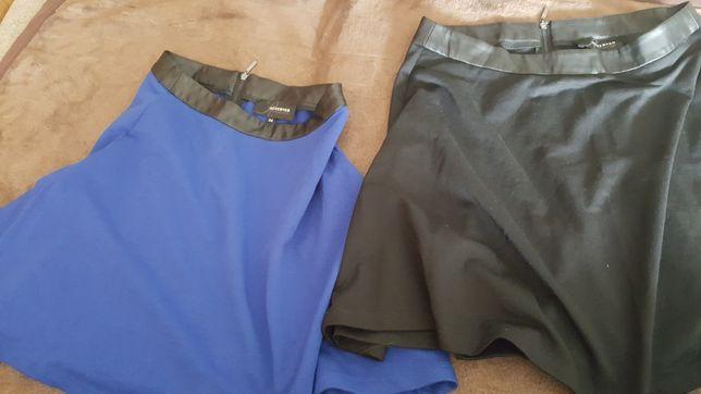 Spódnica Reserved r.34 r.36 rozkloszowana czarna niebieska