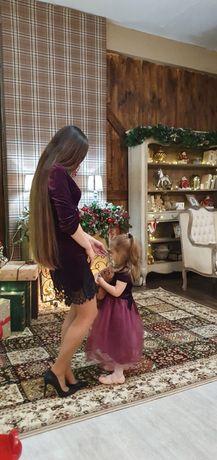 Новогодний Фэмили лук (family look), Новогодние платья