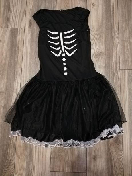 Strój/ przebranie/ sukienka szkielet kości r122 choinka bal przebranie