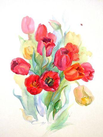 Акварель, цветы, оформление, интерьер, подарок, пионы, орхидеи, ирисы