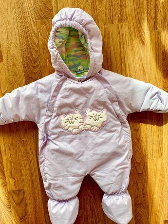 Kombinezon ocieplany niemowlęcy rozmiar 68 + czapeczka gratis