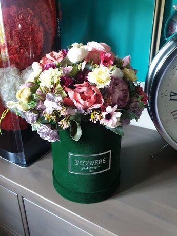 Piekny flowerbox matowy butelkowa zielen 45 cm