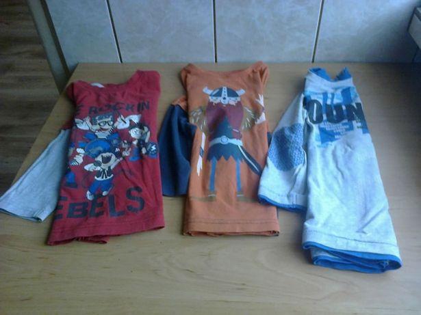 Bluzeczki chłopięce 2-3 lata 9 sztuk