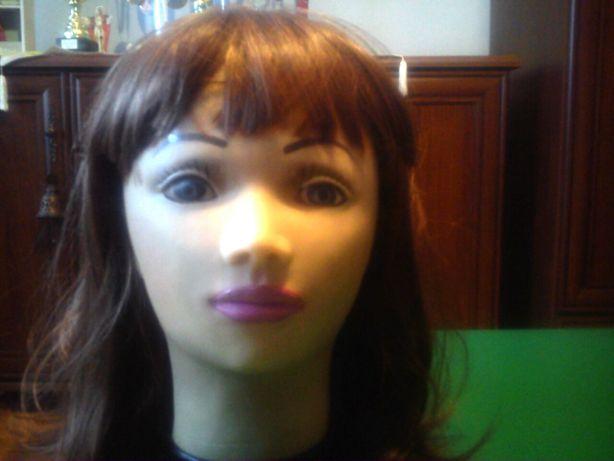 Głowa - stojak na perukę - manekin + peruka bob