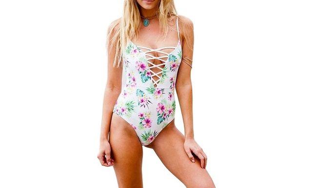 Nowy strój kąpielowy jednoczęściowy kostium