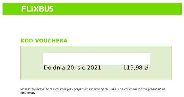 Flixbus voucher plus kod 20% zniżki