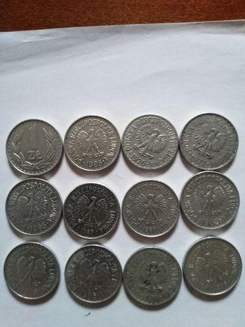 Moneta 1 złoty 12 sztuk