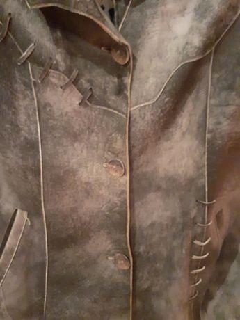 Продам кожаный женский пиджак