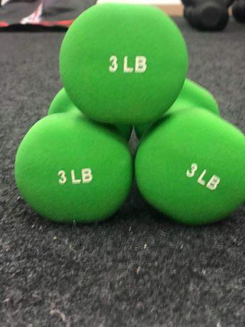 Używane hantelki 3 lbs (1.36 kg)