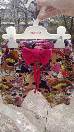 Детские шорты бриджи с лол яркие девочке 2-3 года
