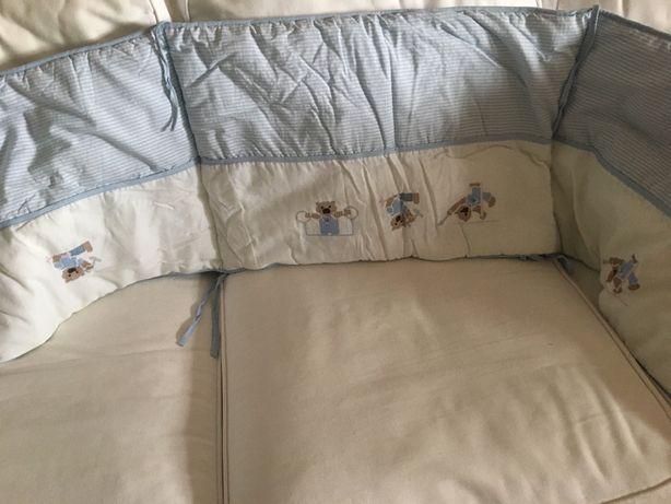 Edredon e capas para cama de grades novas