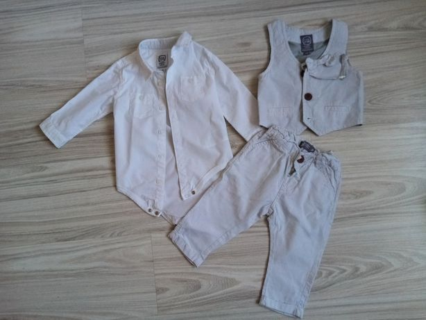 Komplet elegancki, chrzciny, kamizelka, spodnie, koszula, Cool Club