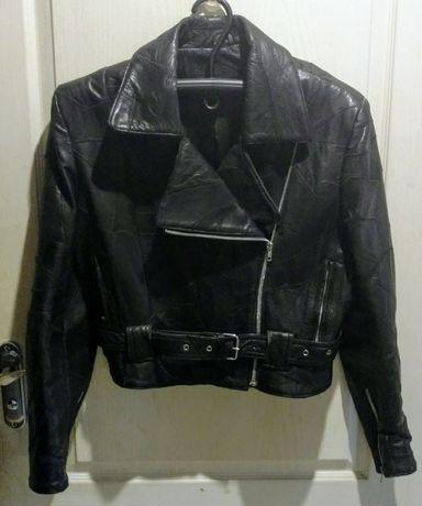 Косуха чёрная женская р.40 ЕU дизайнерский проект для Harley Davidson