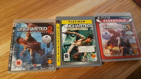 Uncharted 1 2 3 komplet okazja