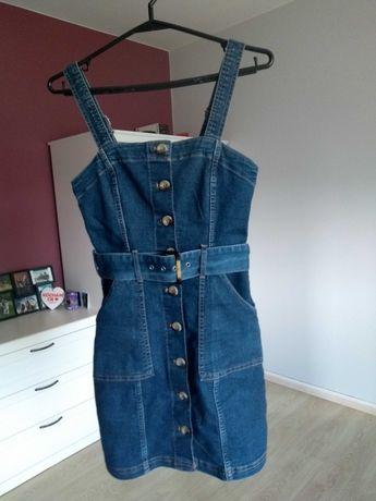 H&M sukienka ogrodniczka 34