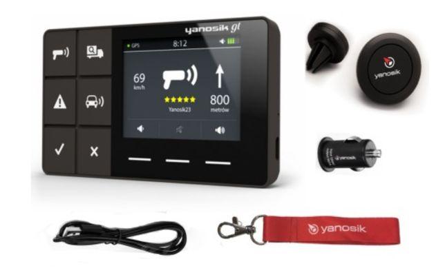 YANOSIK GT + Fotoradary UE + Parkowanie.Zestaw nowy.