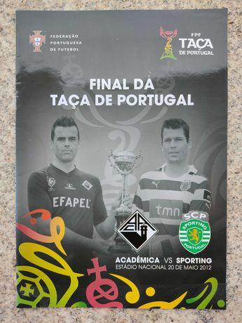 Programa/revista final Taça Portugal 2012 Sporting-Académica Coimbra