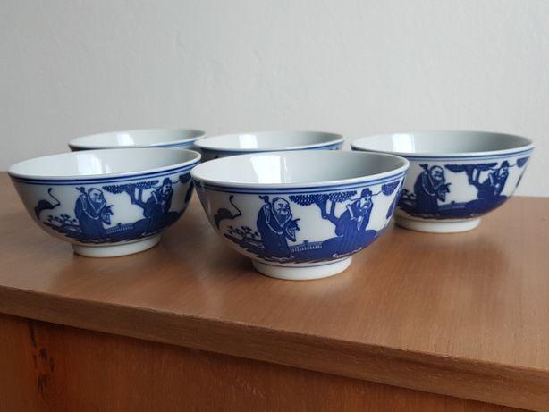 Chińska porcelana oryginalna. Zestaw miseczek ryżowych.