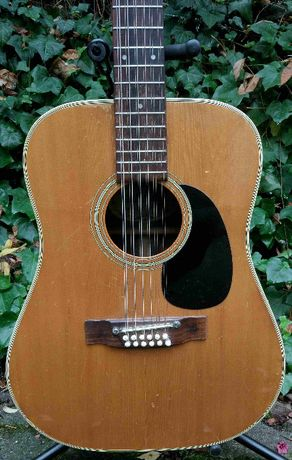 Gitara akustyczna 12 strunowa Shiro - Japan