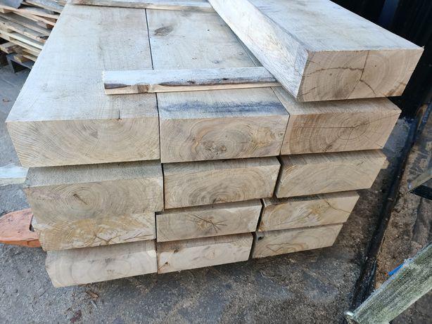 Belki szwele drewniane podkłady ogrodowe, dębowe, dąb