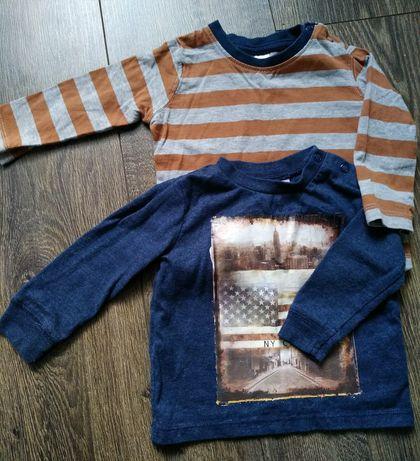 Тоненький свитерок, футболка с длинным рукавом на 3-6месяцев