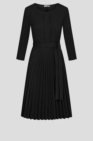Orsay czarna sukienka z plisowanym dołem nowa rozmiar40 L