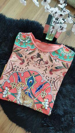 Nowość 2020:) bluzeczka z lampartem ZARA roz S CUDOWNA:)