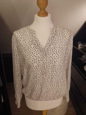 Biała wzorzysta bluzka Reserved rozmiar 38