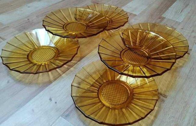 Szklane Talerzyki miodowe słoneczniki Ząbkowice  (?)