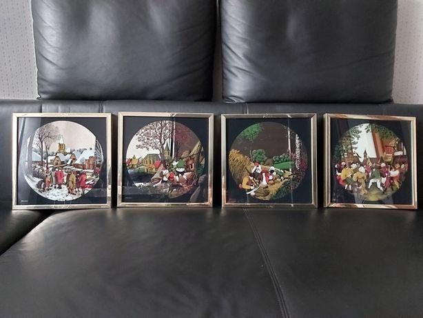 Stare Obrazki cztery pory roku lustrzane