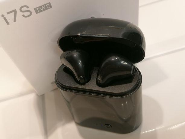 i7 TWS czarne słuchawki bluetooth bezprzewodowe powerbank typu airpods