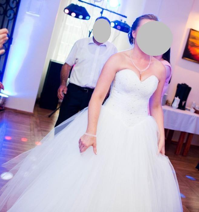 Suknia ślubna Karina, model Milana, rozmiar 36-42, biała, GRATIS koło Sarnów - image 1