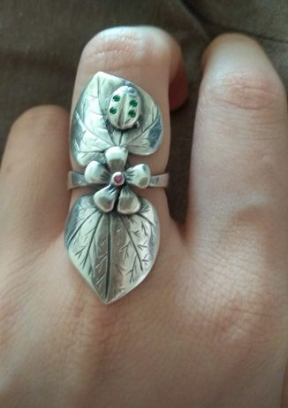 Серебряное кольцо р17.5-18