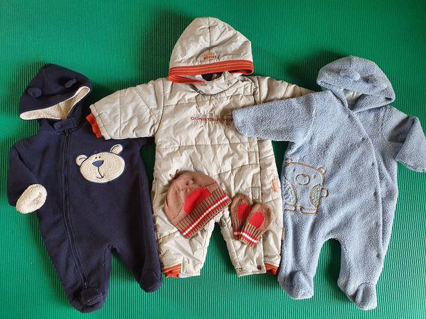Kombinezony dla chłopca 3-6 miesięcy (cena za całość!)