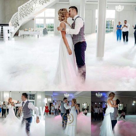 Taniec w chmurach, ciężki dym profesjonalny sprzet, Napis Love