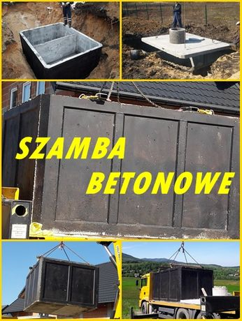 Szambo dwukomorowe 8m3 Zbiornik betonowy Szamba od PRODUCENTA