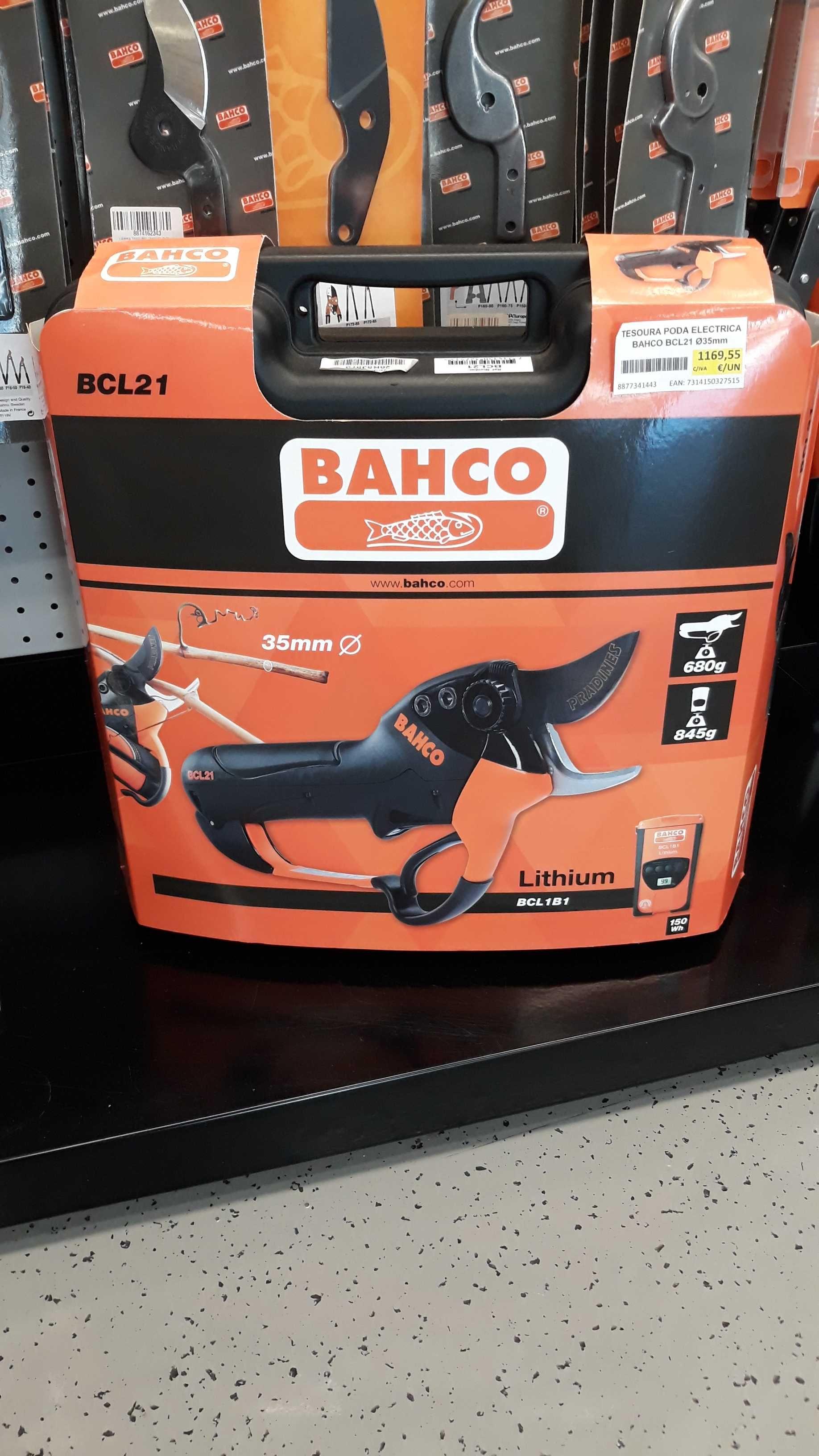 Tesoura Bateria Vindima Bahco BCL21