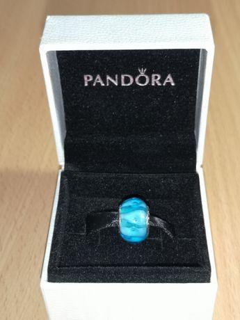 Pandora шарм бусина из муранского стекла 925 проби серебро