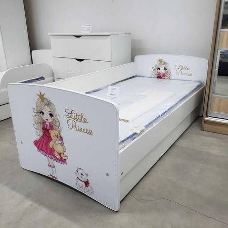 Детская кровать с ящиками и бортиком большой выбор