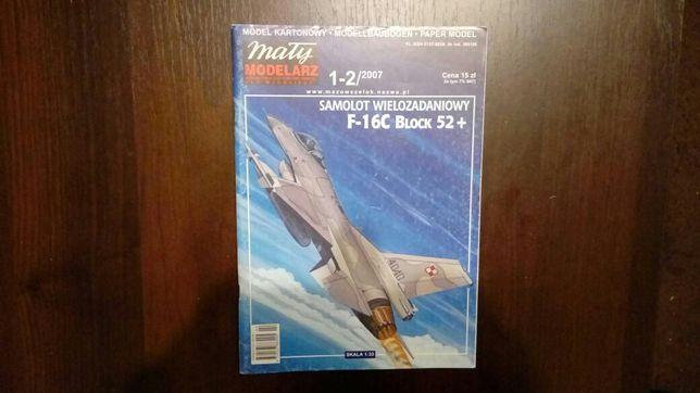 Model kartonowy F-16C Block 52 + 1:33 mały modelarz