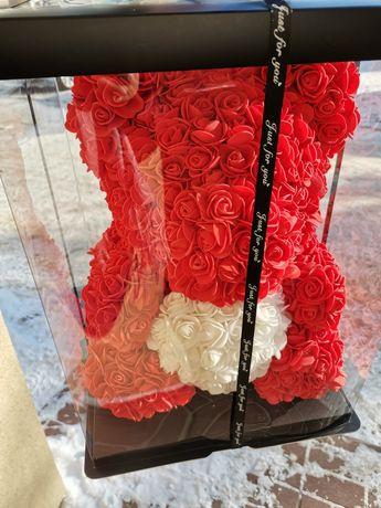 Miś z róż 40cm ostatnie sztuki! Giftbox gratis