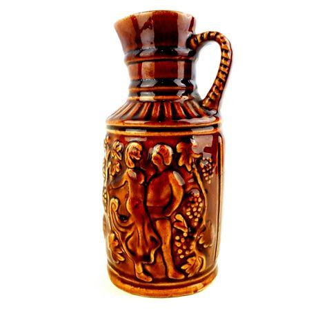 Wazon Dzbanek zabytkowy RETRO brązowy ceramiczny karafka
