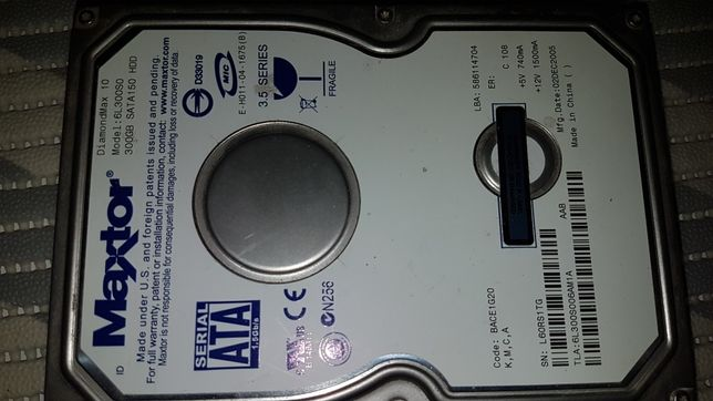 Twardy dysk 300Gb matryce