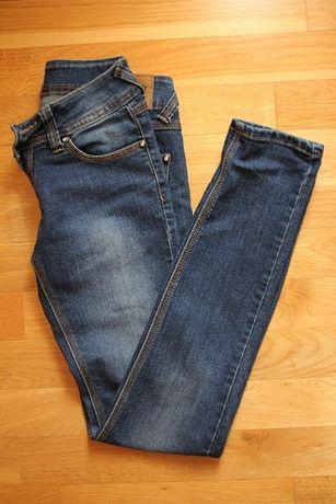damskie spodnie jeansy rurki 36 S