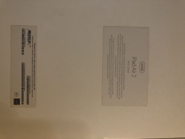 Ipad air 2, 64 gb, wi-fi+ cellular