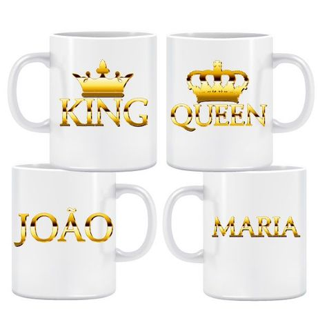 King & Queen Gold Caneca Pack