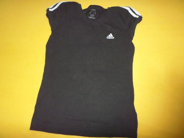 czarna bluzka sportowa do ćwiczeń adidas rozmiar M