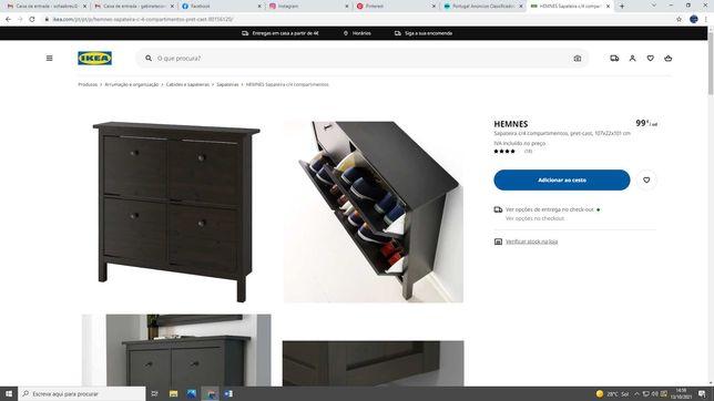 Sapateira Ikea Hemnes
