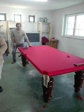 Transporte e montagem de Snooker