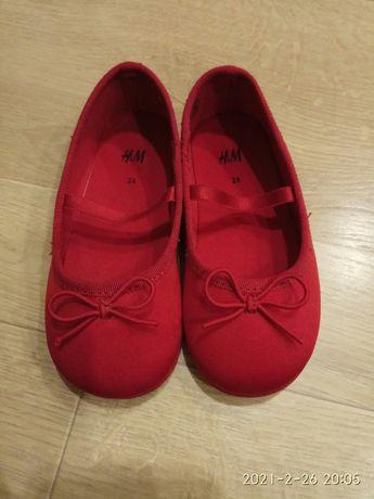 Балетки для девочки H&M, размер 24, стелька 15,5 см.